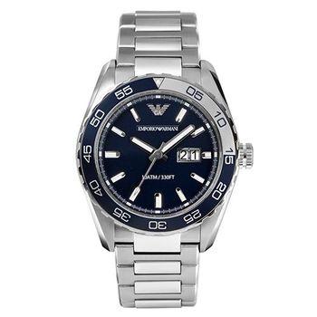 【ARMANI】陽剛型男品味鋼帶腕錶 AR6048
