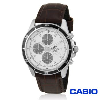 【CASIO卡西歐】EDIFICE系列商務休閒皮帶腕錶(EFR-526L-7A)