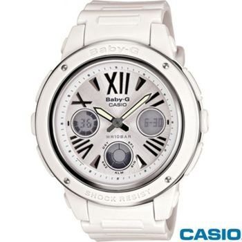 【CASIO卡西歐】Baby-G夏日清爽金屬雙材質雙顯腕錶(BGA-152-7B1)