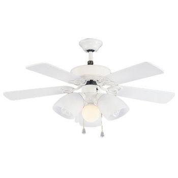 【領航者】42吋溫莎風情精品吊扇+多燈 (珍珠白色)