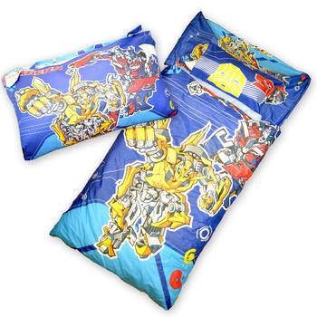 【Sunnybaby生活館】- 卡通造型幼教兒童睡袋(百變金剛)