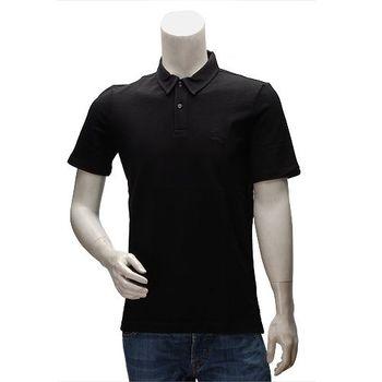 BURBERRY 經典戰馬刺繡素面立領短袖POLO衫(黑)3915214-BLK