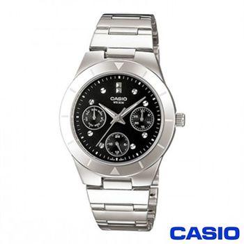 【CASIO卡西歐】三眼優雅石英女錶(LTP-2083D-1A)