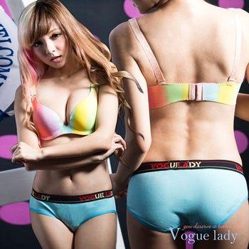 【Vogue Lady】馬卡龍系列滾邊三角褲(藍)