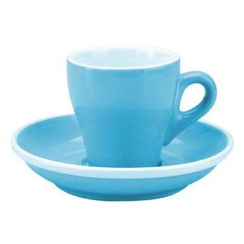 TIAMO 17號鬱金香濃縮杯盤組(雙色) 5客 90cc 淺藍-HG0850BB