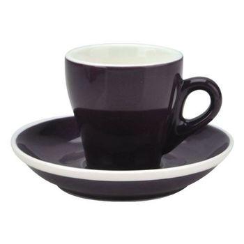 TIAMO 17號鬱金香濃縮杯盤組(雙色) 5客 90cc 紫-HG0850P
