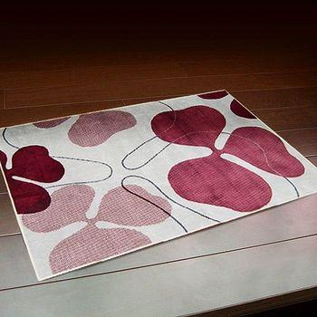 范登伯格 荷希素描寫真絲質地毯-三葉草(粉)-70x110cm