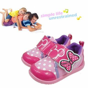 Disney迪士尼粉紫趣味兒童休閒鞋(14cm~19cm)