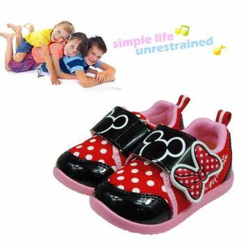 Disney迪士尼紅粉趣味兒童休閒鞋(14cm~19cm)