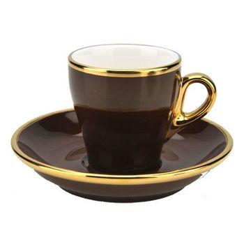 TIAMO 17號鬱金香濃縮杯盤組(K金) 單客 90cc 咖啡-HG0846BR