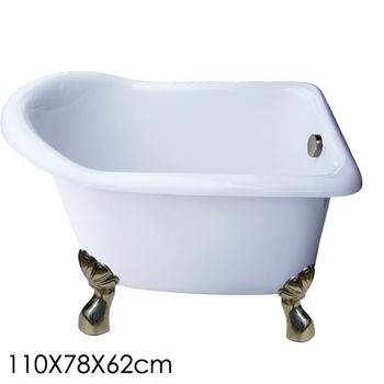 【Aberdeen】仙度瑞拉 古典獨立浴缸-金(110cm)