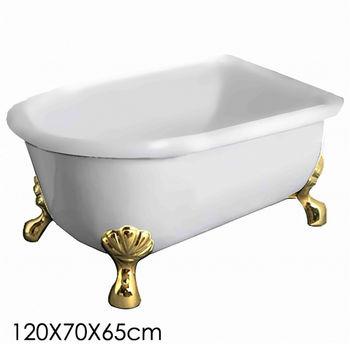 【Aberdeen】仙度瑞拉 古典獨立浴缸-金(120cm)