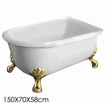 【Aberdeen】仙度瑞拉 古典獨立浴缸-金(150cm)