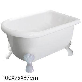 【Aberdeen】 仙度瑞拉 古典獨立浴缸-白(100cm)
