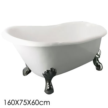 【Aberdeen】 蘇菲亞 獨立浴缸-銀(160cm)