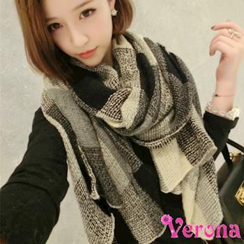 【Verona】明星款蓬鬆復古風薄款針織毛線圍巾披肩圍