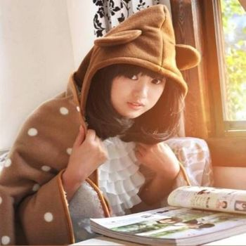 【Bunny】加厚宅人披肩袖毯毛毯(三款)