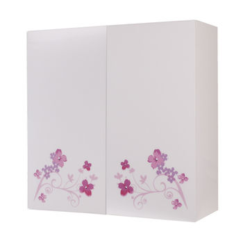 【Aberdeen】花團錦簇 浴室收納櫃 (對開)