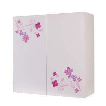 【Aberdeen】花開富貴 浴室收納櫃 (對開)