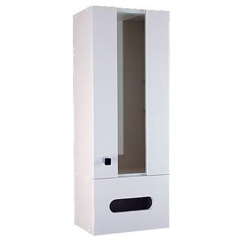 【Aberdeen】時尚浴室收納櫃-白色(右開)