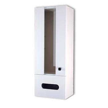 【Aberdeen】時尚浴室收納櫃-白色(左開)