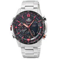 CASIO 卡西歐EDIFICE 紅牛雙顯鋼帶錶 ^#45 黑 ^#47 ERA ^#45