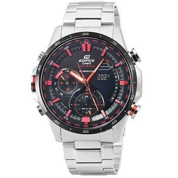 CASIO 卡西歐EDIFICE 紅牛雙顯鋼帶錶-黑 / ERA-300DB-1A (原廠公司貨)