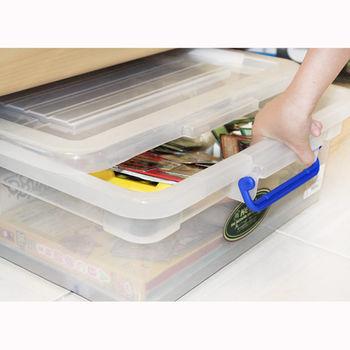床下掀蓋式滾輪收納箱38L (2入組) 置物箱 收納盒 衣物整理箱
