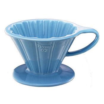 TIAMO V02花漾陶瓷咖啡濾器組 附濾紙量匙滴水盤-HG5536BB