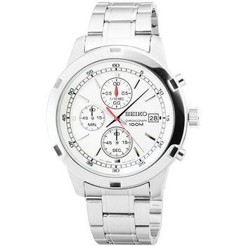 SEIKO精工三眼計時賽車錶-銀面 / SKS417P1 4T57-00B0
