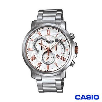 【CASIO】商務日曆三眼鋼帶腕錶 (BEM-506BD-7A)