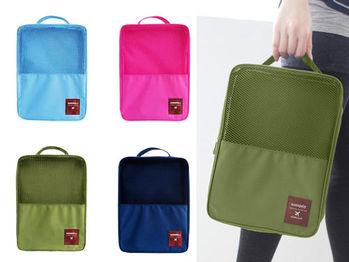 手提多分隔鞋子整理收納盒(3鞋位) 防潑水運動鞋包 收納袋/旅行萬用收納包