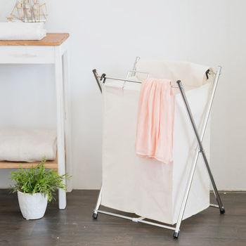 【ikloo】 可提式髒衣收納籃/洗衣籃 (單格)