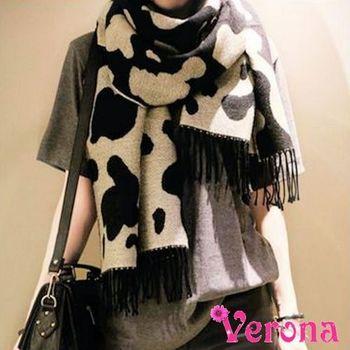 【Verona】雙面雲端仿羊絨流蘇圍巾披肩