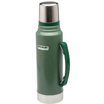 【美國Stanley】Dr. 倫太郎經典款真空保溫瓶 1L(錘紋綠)