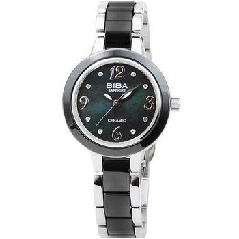 BIBA 碧寶錶藍寶石陶瓷石英錶-黑 / B31BC040B (原廠公司貨)