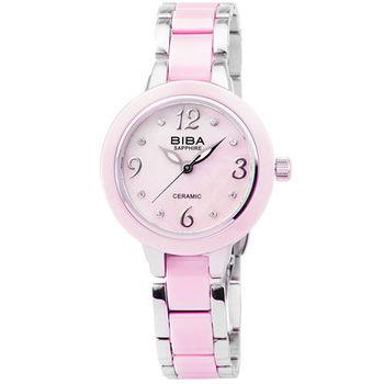 BIBA 碧寶錶藍寶石陶瓷石英錶-粉紅 / B31PC040P (原廠公司貨)
