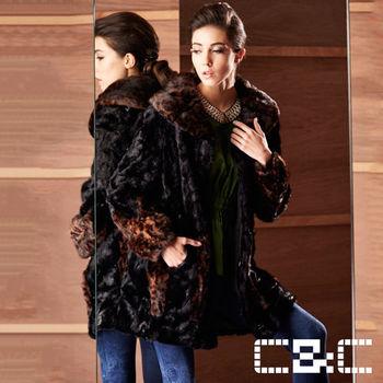 CC極致奢華豹紋貂皮大衣-24