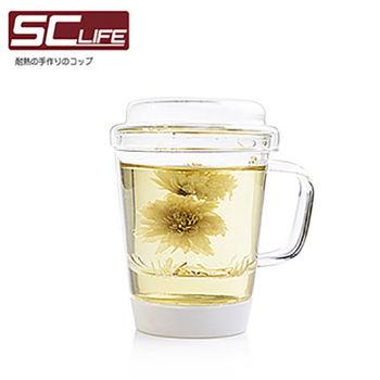 【SC life】三件式玻璃泡茶杯