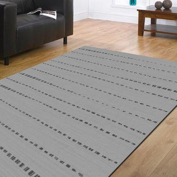 范登伯格 艾希米亞格紋風類亞麻地毯-迴路-160x230cm