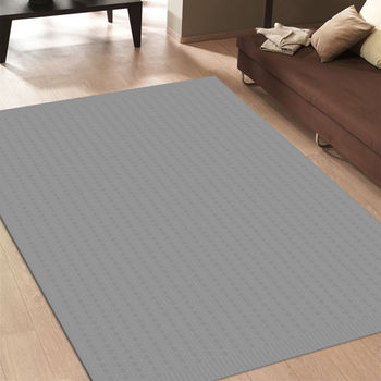 范登伯格 艾希米亞格紋風類亞麻地毯-網點-160x230cm