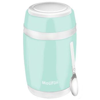MoliFun魔力坊 不鏽鋼真空保鮮保溫燜燒食物罐550ml-清新綠
