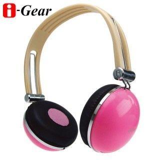 【i-Gear】司諾克耳機-粉紅(加贈領夾式麥克風)