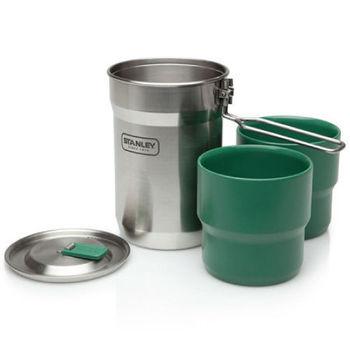 【美國Stanley】冒險露營鍋組709ml(不鏽鋼原色)-鍋具/登山鍋/單人鍋/兩人鍋/炊具/鍋碗