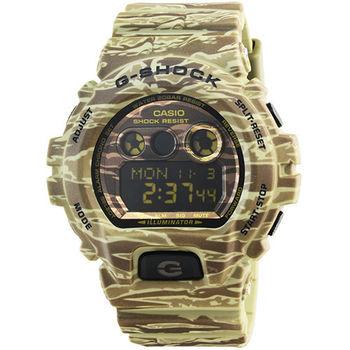 CASIO 卡西歐G-SHOCK 迷彩鬧鈴電子錶-咖啡 / GD-X6900CM-5