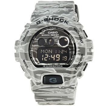 CASIO 卡西歐G-SHOCK 迷彩鬧鈴電子錶-軍灰 / GD-X6900CM-8