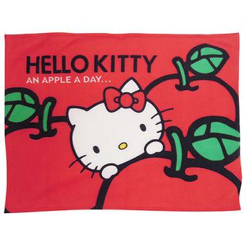 【享夢城堡】HELLO KITTY 蘋果多多 刷毛毯