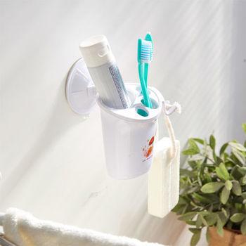 ikloo_TACO無痕吸盤系列-牙刷牙膏置物架