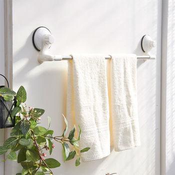 ikloo_TACO無痕吸盤系列-不鏽鋼角落可用毛巾架