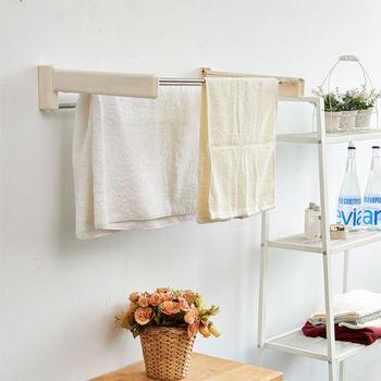 ikloo_省空間收納式不銹鋼毛巾架